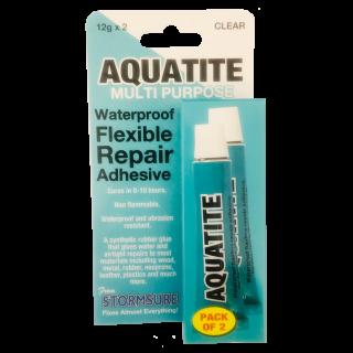 Aquatite Waterproof Flexible Repair Adhesive 12g Tube (Pack of 2)