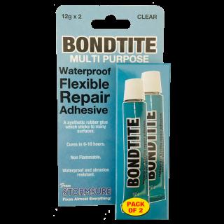 Bondtite Waterproof Flexible Repair Adhesive 12g Tube (Pack of 2)