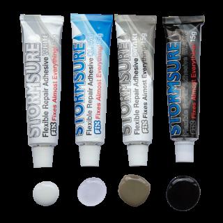 Stormsure Flexible Repair Adhesive Pack of 4 Colours