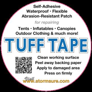stormsure tuff tape self adhesive repair patch 75mm circular